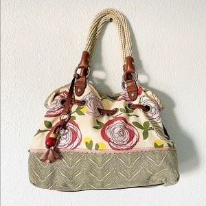 FOSSIL || Peony and Ants Canvas Purse